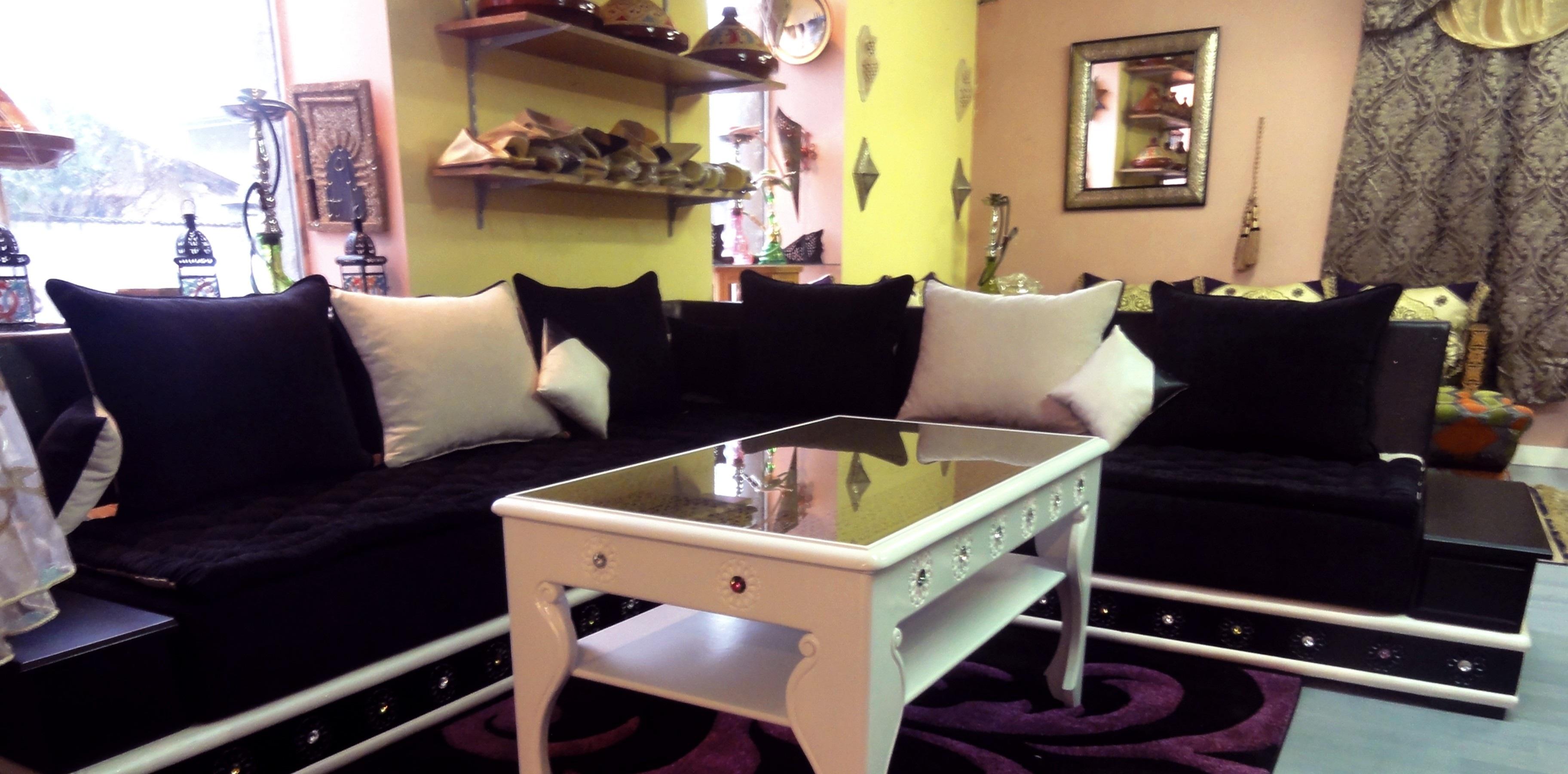 canapé salon en violet