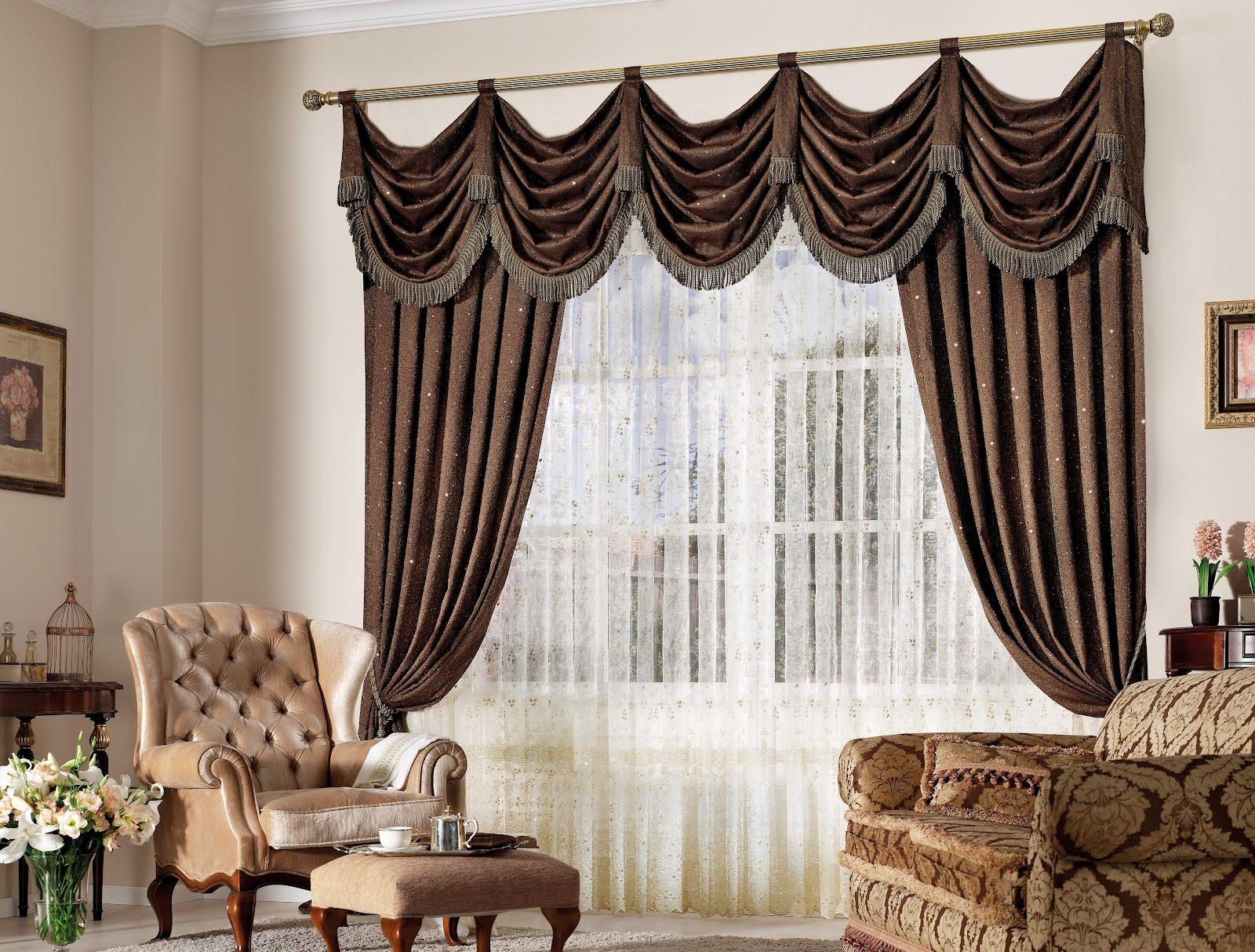 salon avec un magnifique rideau umineux