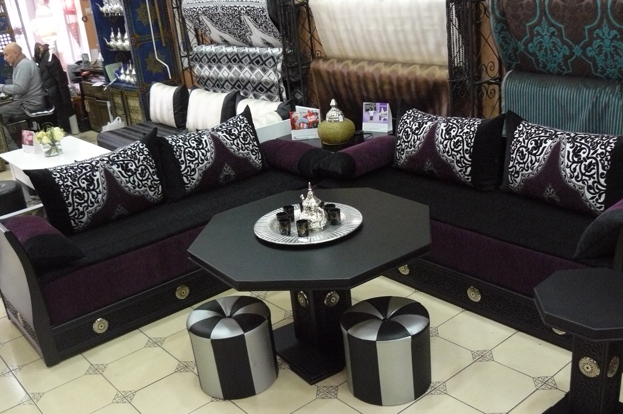 video salon marocain catalogue mod les 2016 d cor. Black Bedroom Furniture Sets. Home Design Ideas