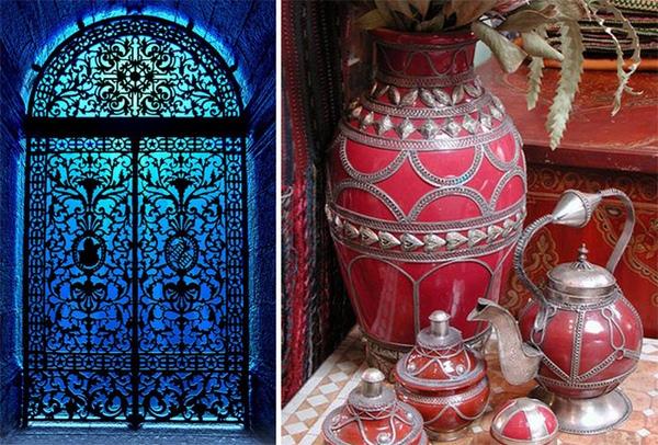 Le travail du m tal dans la d coration marocaine d cor for Decoration porte marocaine