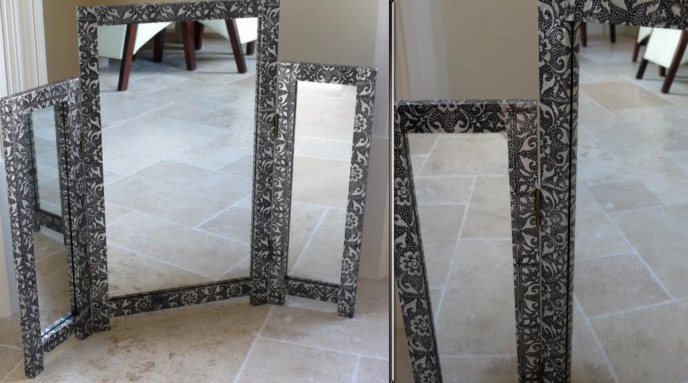 grand miroir style marocain en métal
