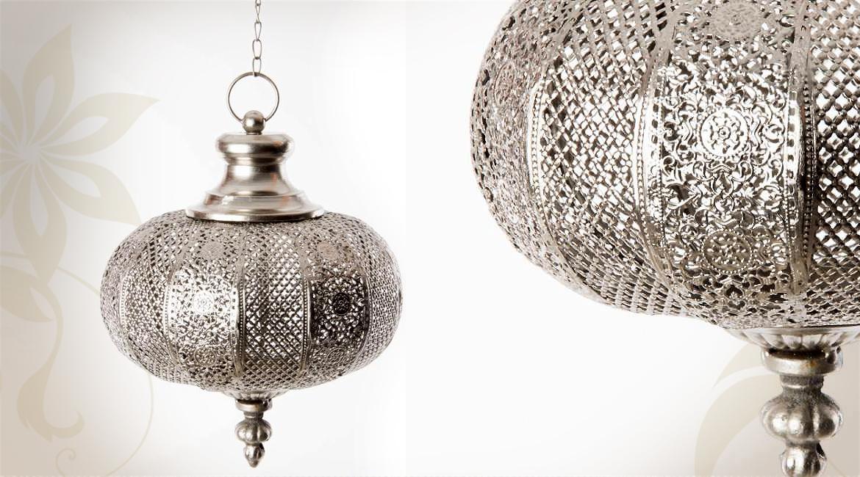 lanternes de style orientale en métal argente