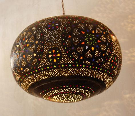 lanternes pour salon déco oriental en lampe d'une forme des etoiles