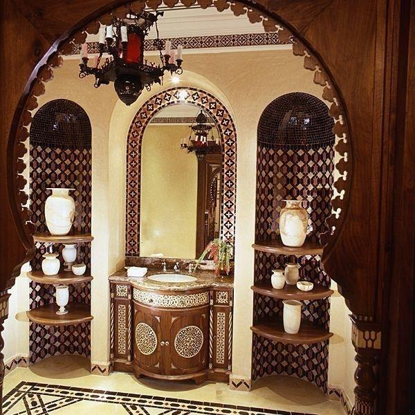 salle de bain en déco marocain