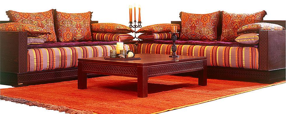salon marocain bois