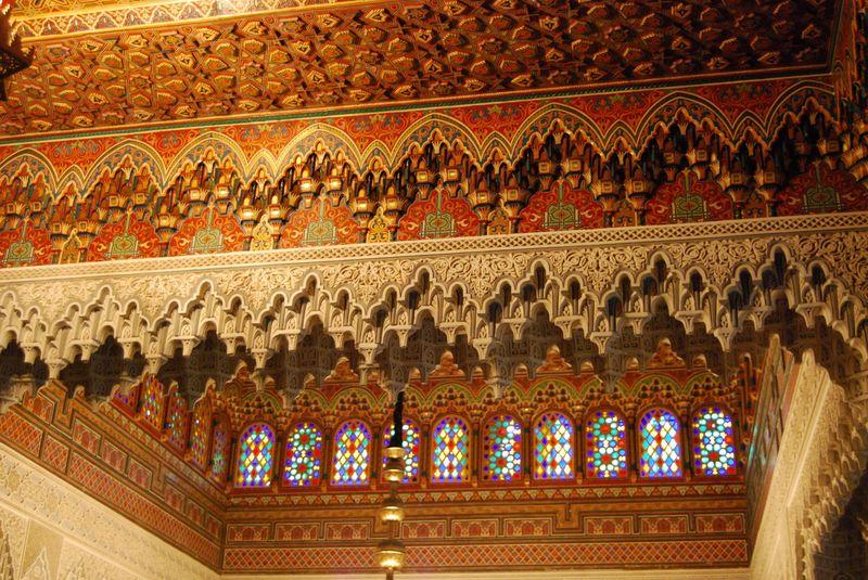 salon marocain en bois