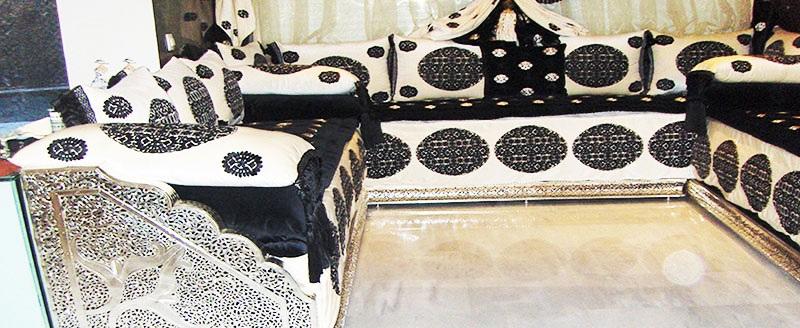 salon marocainen design cuivre