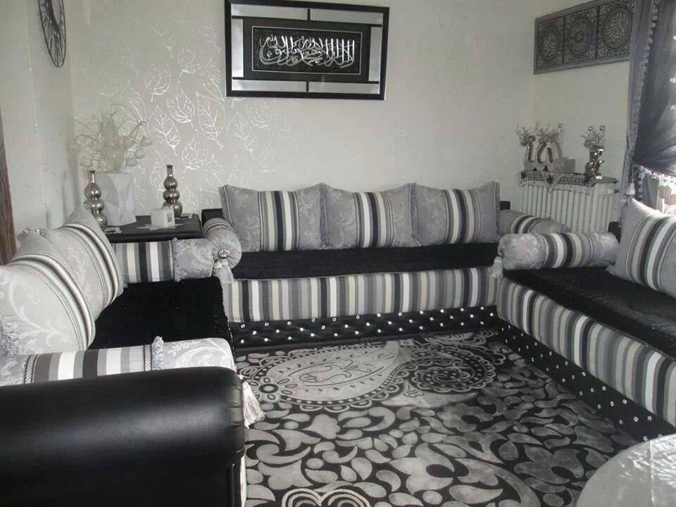 Decoration Chambre Bebe Gris Et Blanc : Le prix salon marocain occasion  Décor salon marocain