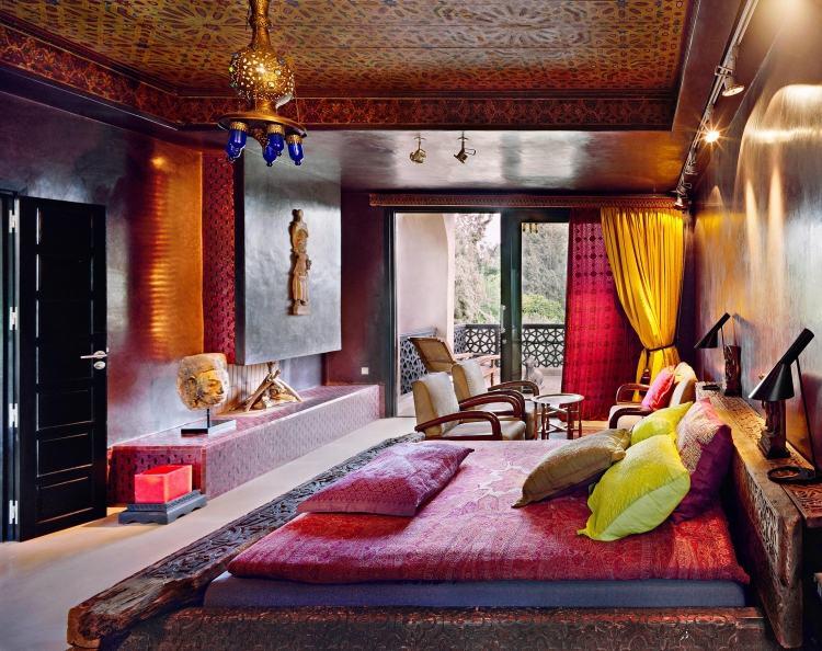 décoration orientale du chambre marocain
