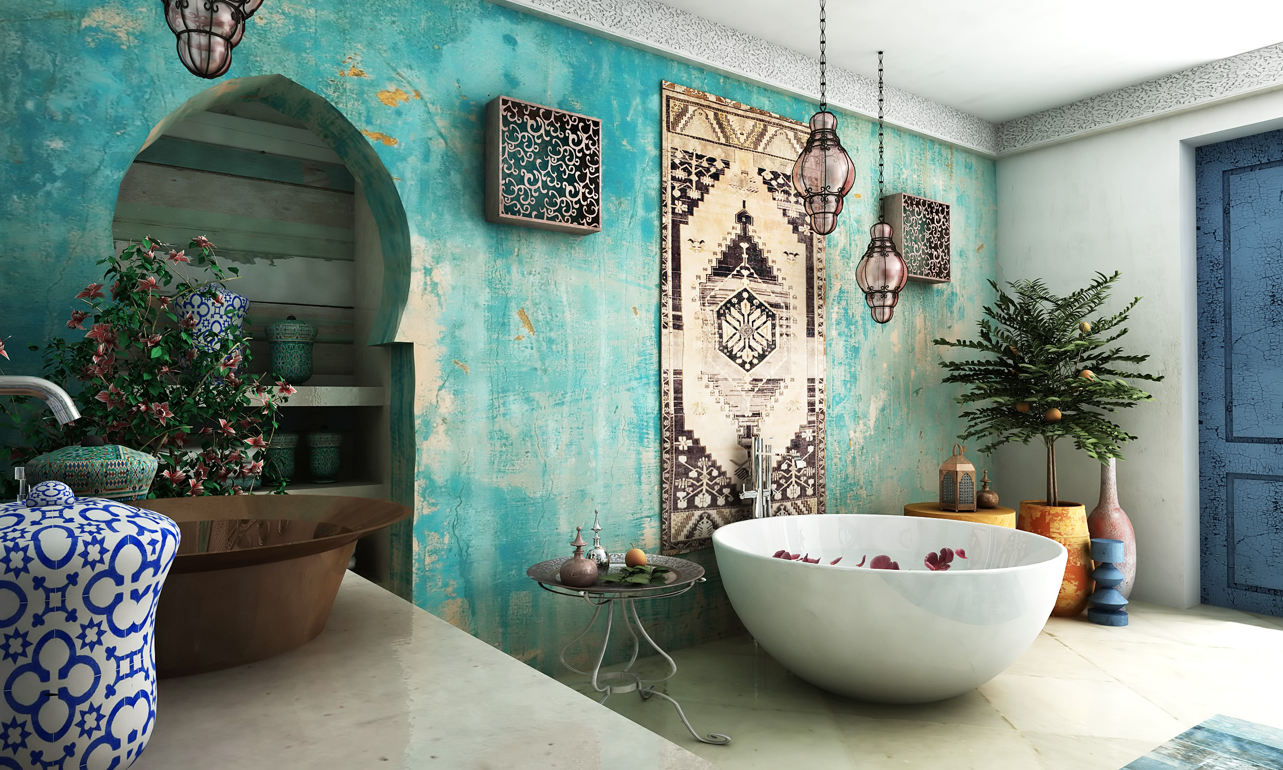 Awesome Salle De Bain Inspiration Orientale Gallery - Amazing ...