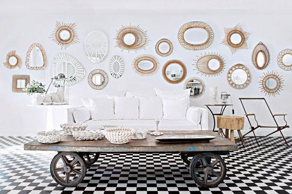 salon décoration en miroir