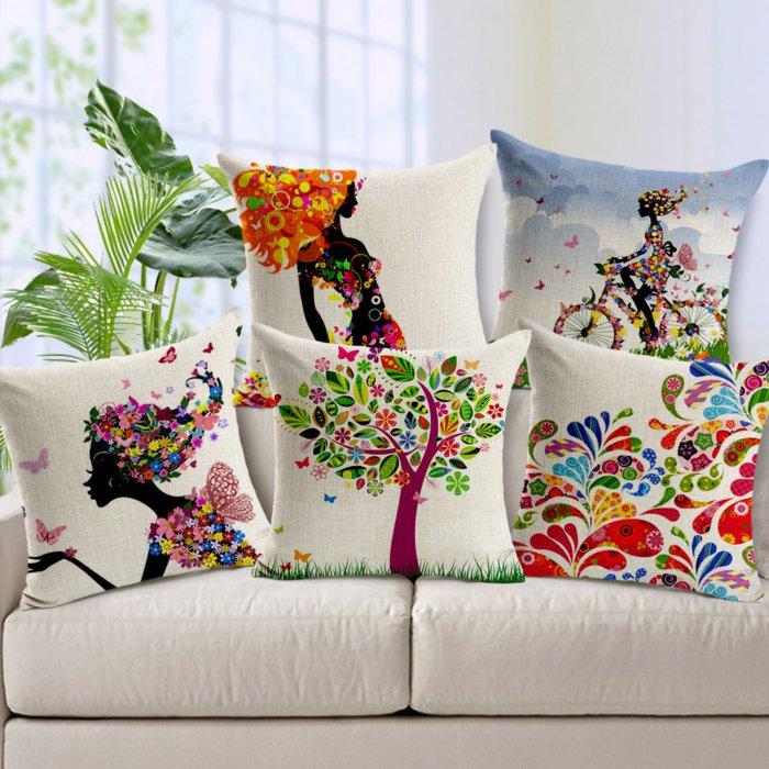 coussins de canapé coloré