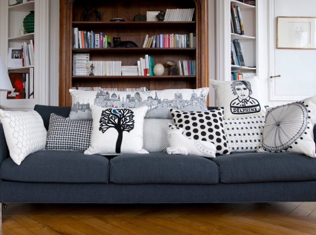 coussins de canapé mode 2016