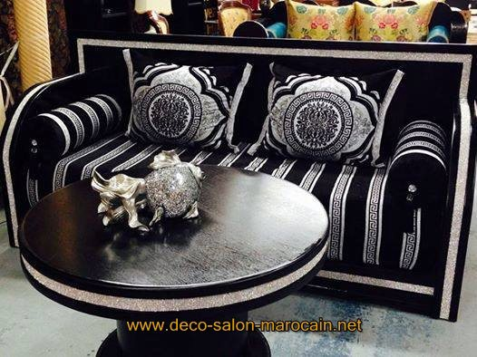 salon marocain noir mode 2016
