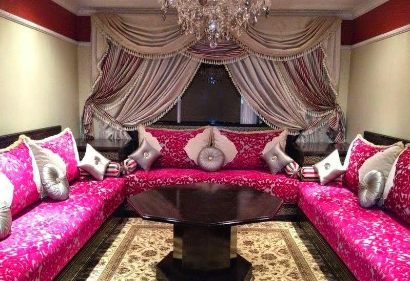 salon marocain mode 2016 rose