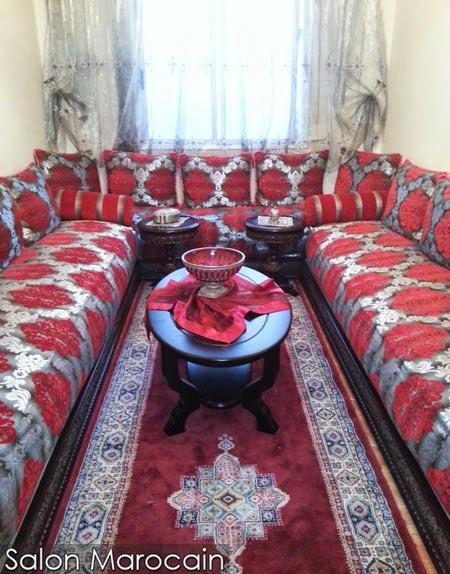 salon marocain rouge