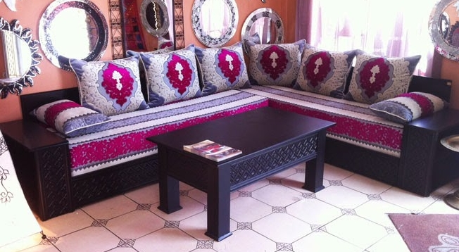 salon marocain moderne pas cher prix et disponibilit s. Black Bedroom Furniture Sets. Home Design Ideas