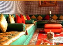 Salon traditionnel d cor salon marocain for Salon traditionnel marocain vert