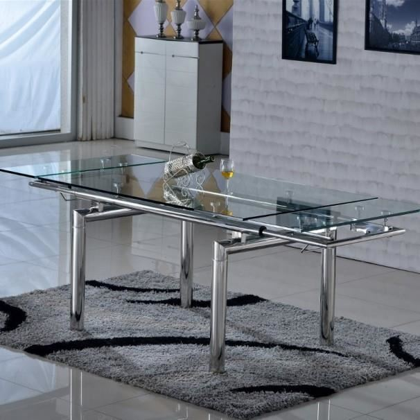 table en verre extensible inox mode 2016