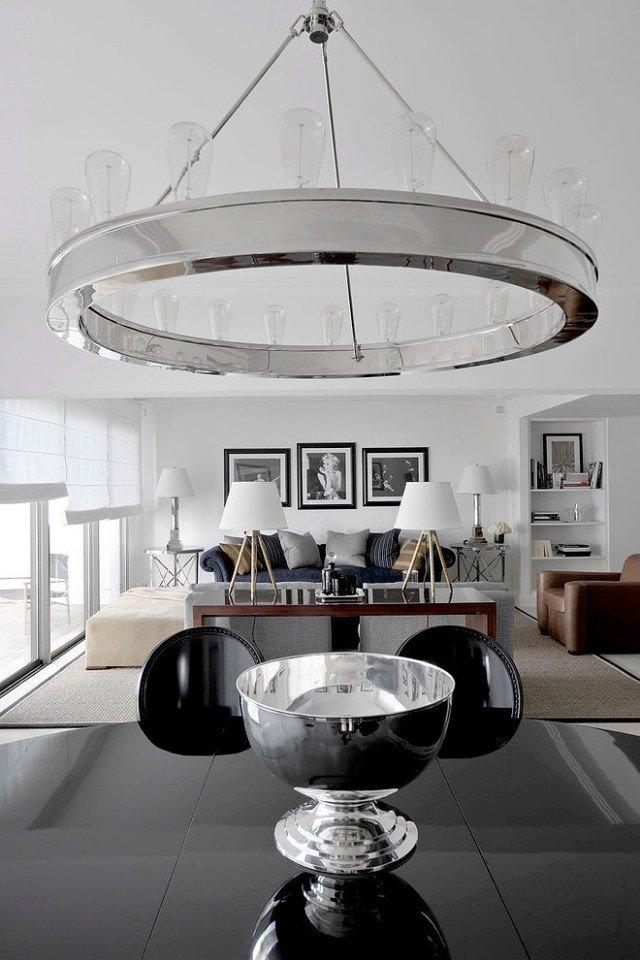 luminaire moderne grand lustre métal verre salon moderne