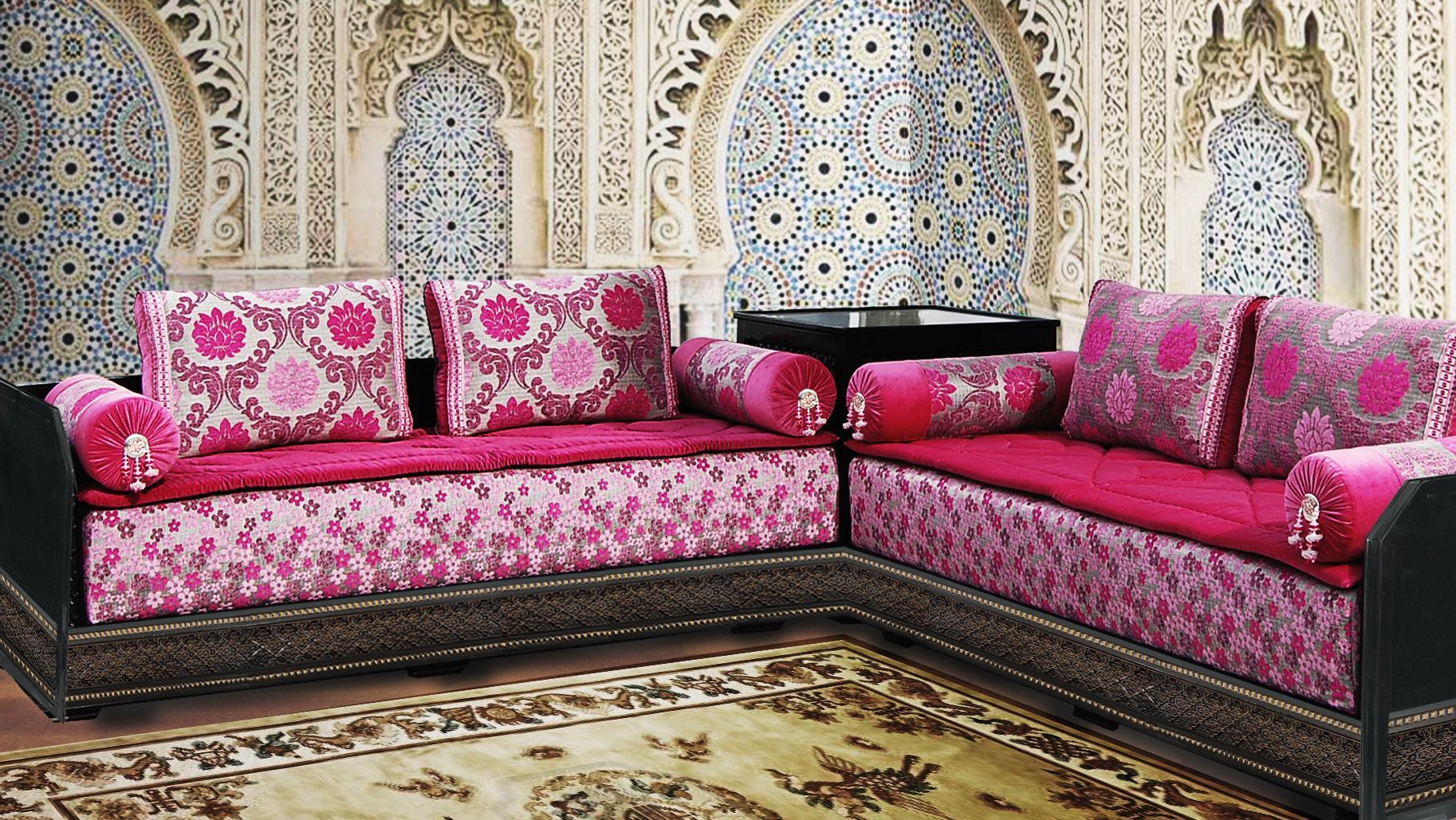 salon marocain traditionnel décoration bahja 2016