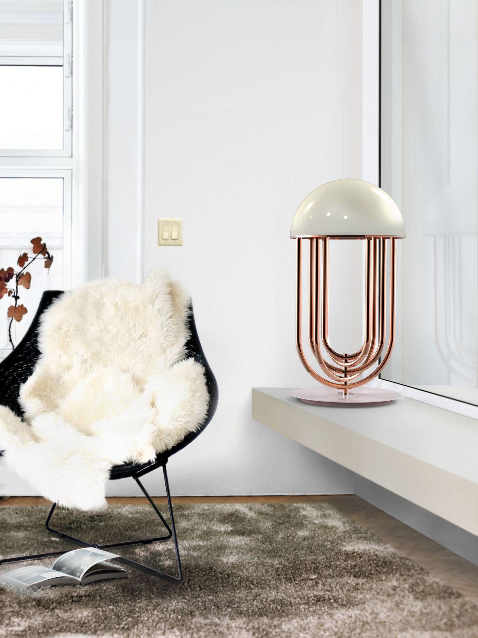 une lampe en design moderne à poser
