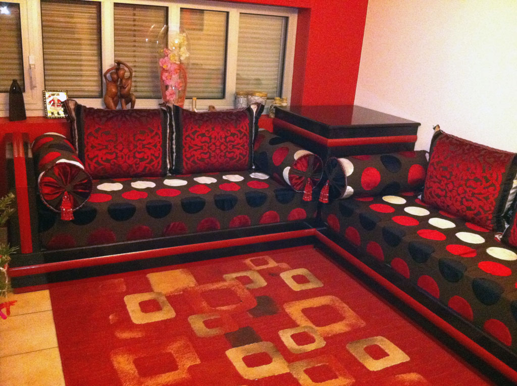 Stunning salon marocain moderne rougeetnoir gallery for Salon americain