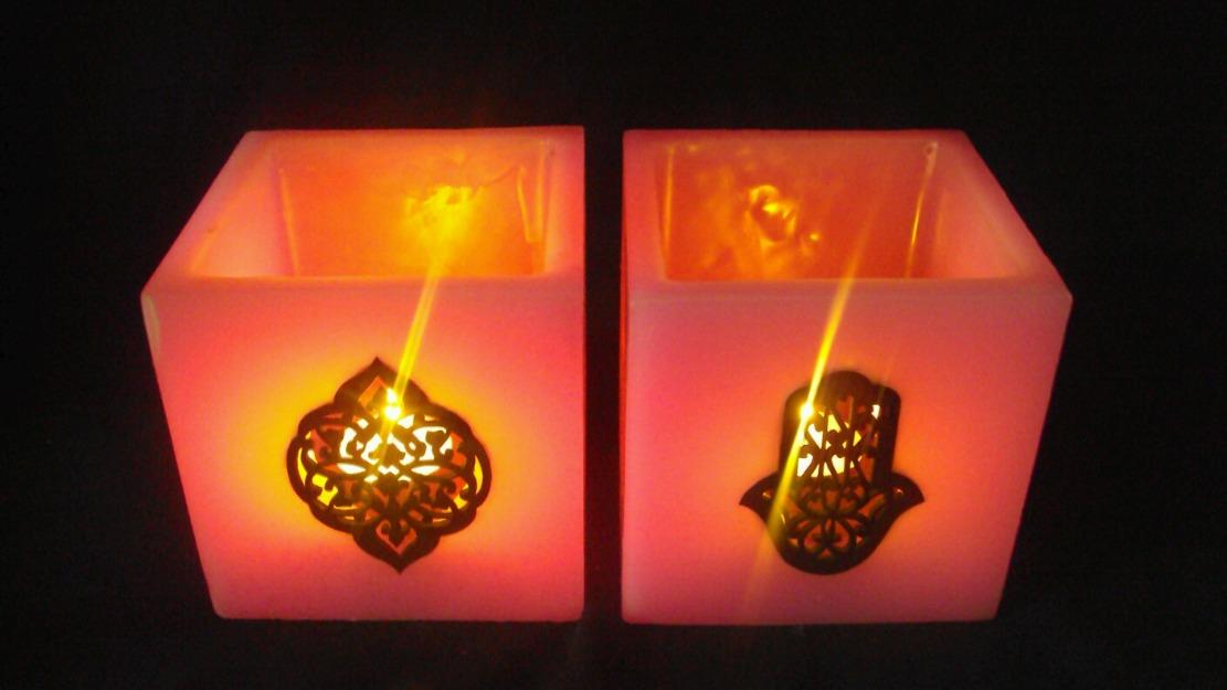 deux bougies moderne