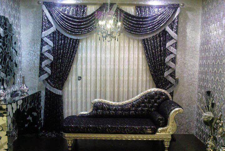 Rideaux occultant pour salon marocain moderne d cor for Modele chambre a coucher maroc