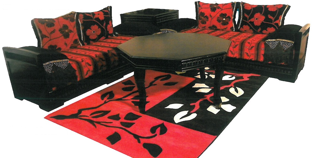 Salon Marocain Moderne Rouge. Beautiful Salon Marocain Rouge Et Noir ...
