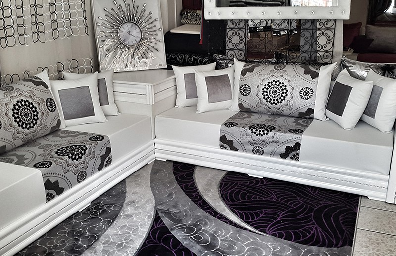 mod les de salon marocain moderne collection 2017 d cor salon marocain. Black Bedroom Furniture Sets. Home Design Ideas