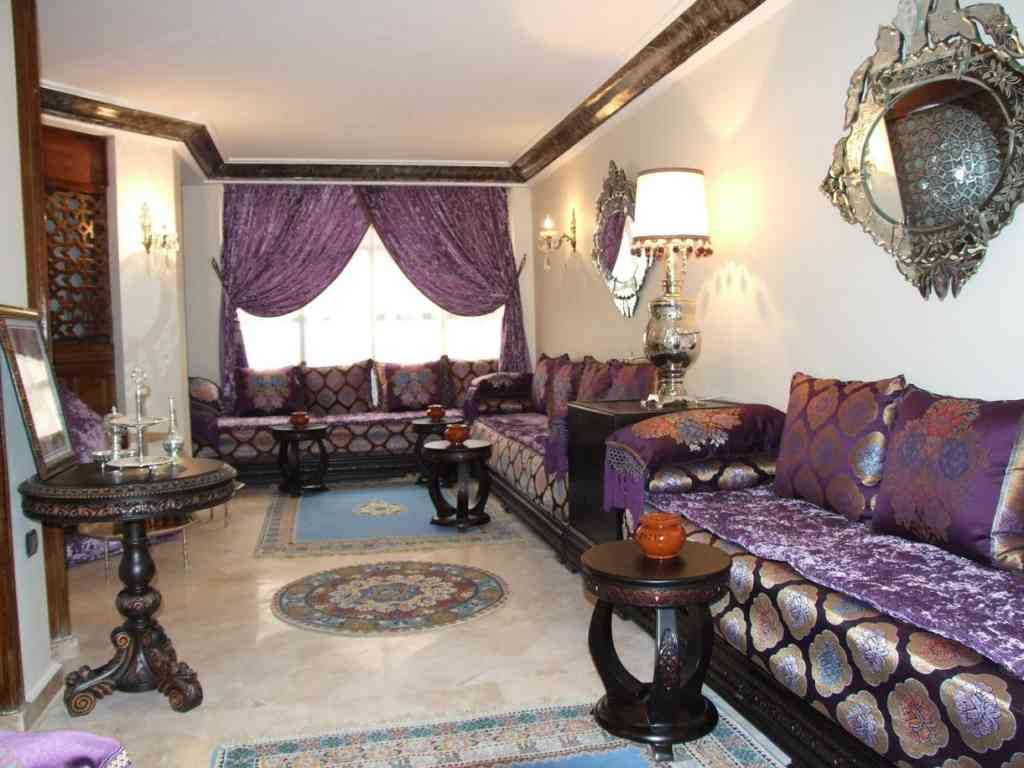 d coration int rieure de salons marocains 2017 d cor salon marocain. Black Bedroom Furniture Sets. Home Design Ideas