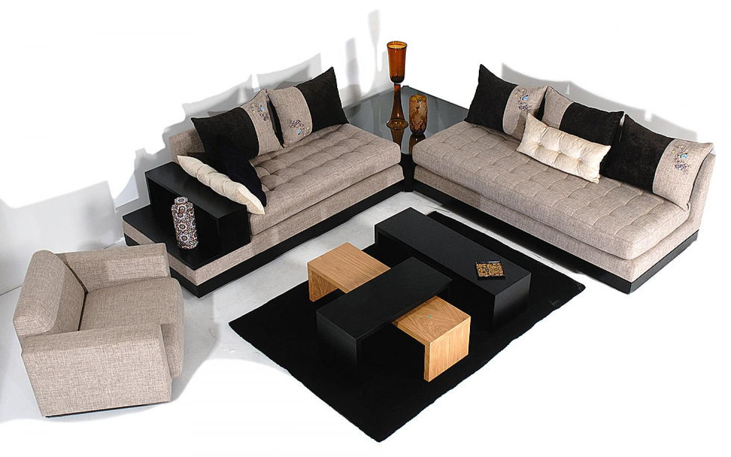 canap moderne de salon marocain et fauteuil d cor salon. Black Bedroom Furniture Sets. Home Design Ideas