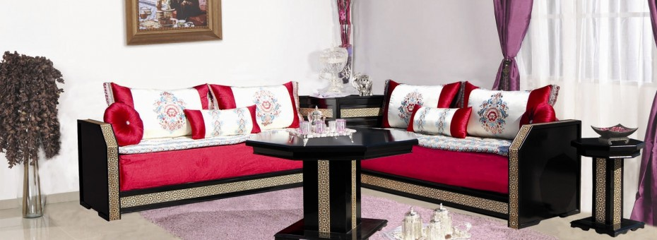 boutique de salon marocain prix moins chers d cor salon marocain. Black Bedroom Furniture Sets. Home Design Ideas