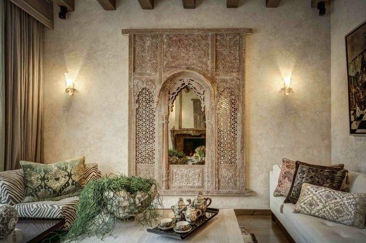 Salon marocain royal de luxe style oriental d cor salon for Salon oriental luxe