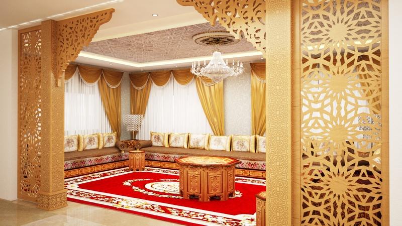 Luxueux Salons marocains traditionnels - Décor salon marocain