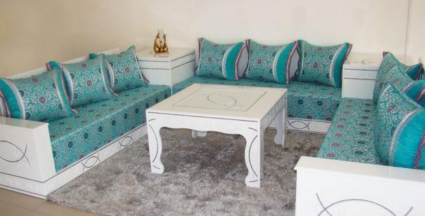 d coration de salon marocain design moderne. Black Bedroom Furniture Sets. Home Design Ideas
